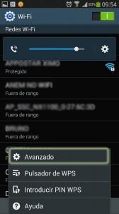 ajustes wifi android