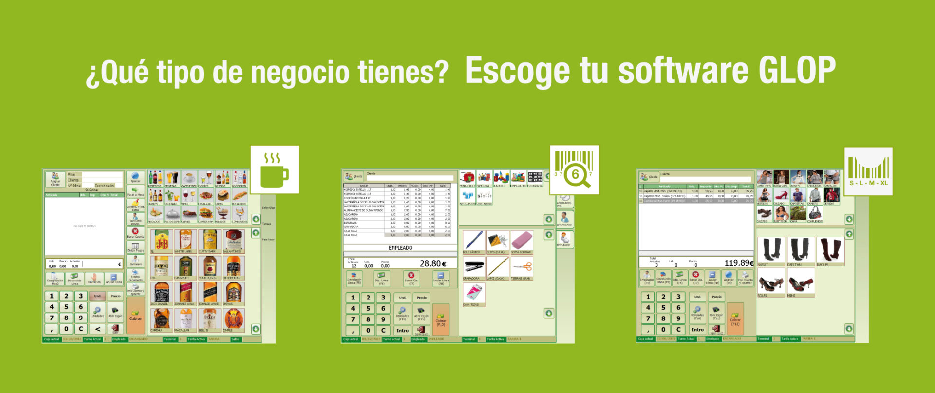 software tpv sectores
