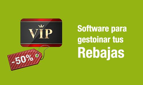 software para comercios en Rebajas