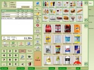 pantalla de ventas Glop