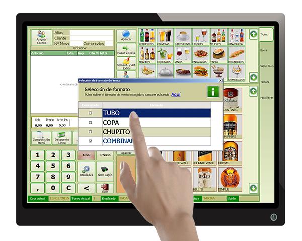 software tpv pantalla glop