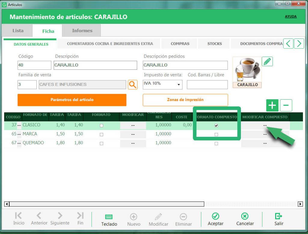 Escandallo Cocina | Escandallo De Cafe Carajillo En Software Glop