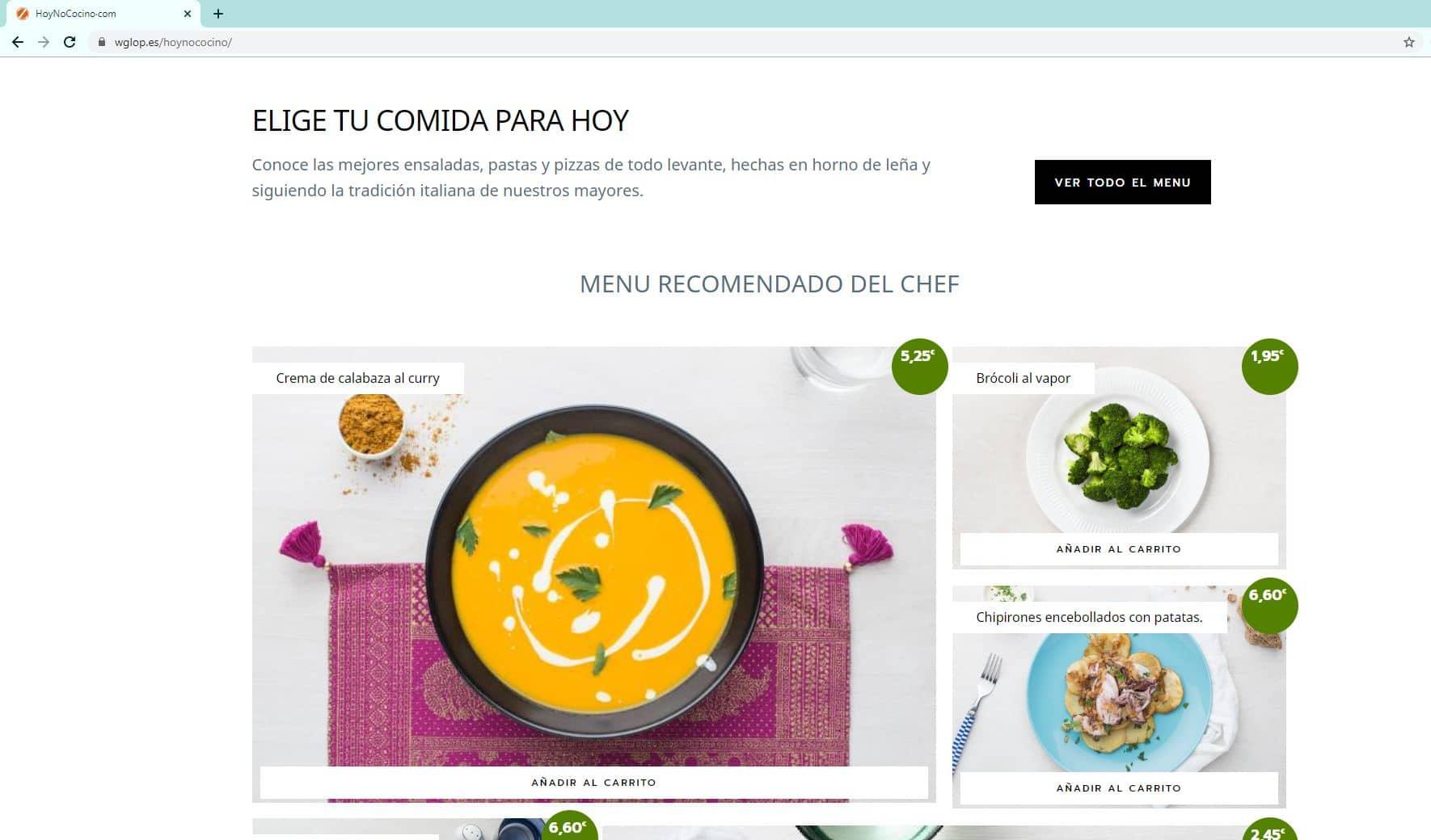 Tienda online para restaurantes